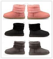 botas de tacón grueso espigas al por mayor-de 2018 Nueva asombrosos Mujeres Australia Classic arrodillarse Botas Botines Negro Rosa Gris botas de castaño de color azul marino muchacha de las mujeres tamaño EU35-40