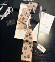 ingrosso sciarpe multiuso-sciarpa di seta stampata stile multi-purpose nastro di seta degli uomini piccolo nastro e donne con sciarpa nastro borse