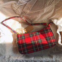 Wholesale vintage phones sale for sale – best 2019 hot sale vintage retro bags designer ladies hand bags French plaid red bag woman elegant small bolsa feminina shoulder bags T200131