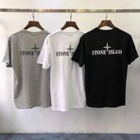 vestidos de logotipo venda por atacado-Manga curta logotipo popular dos homens 2019 nova tendência verão gelados verão vestido de algodão T-shirt da camisa de manga curta T-shirt dos homens