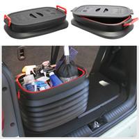 ingrosso scatola di pesce dell'automobile-37L Multi Function Glove Box Car Telescopico BucketCamp Strumento da cucina Pieghevole Pesca all'aperto con coperchio nero 36gtf1