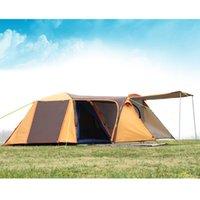 палатки один оптовых-GRNTAMN высокое качество двойной слой 3-4person один зал одна спальня водонепроницаемый ветрозащитный кемпинг палатка