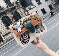 Wholesale womens high fashion handbag online - designer handbags womens New style embroidery emblem for ladies in bags hot sale new arrival high quality black green brown