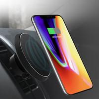 carregador sem fio celular venda por atacado-Suporte magnético carregador de carro sem fio para iphone x 8 plus ar condicionado suporte de ventilação suporte para samsung s9 s9 + s8 s7 nota8 mix2s titular