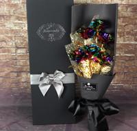 ingrosso migliori fiori artificiali-24K Plated Rose Flower Bouquet romantico Valentine Day Lover Friend Best Gift 6pcs 1set fiore artificiale Bouquet LJJK1183