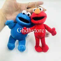 Wholesale elmo toys resale online - Top New Styles quot CM Sesame Street Elmo Cookie Plush Doll Anime Collectible Keychains Pendants Stuffed Gifts Soft Toys