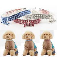 Wholesale dog collar jewelry for sale - Group buy Dog Collars Crystal Rhinestone Pet Dog Cat Collar Puppy Necklace Collars Leashes Diamond Jewelry Christmas Gift DHL WX9