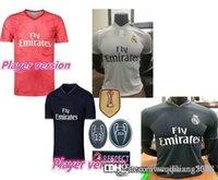 james rápidos venda por atacado-Navio rápido versão do jogador 18 19 Real madrid Futebol Jersey Benzema futebol Modric Kroos Sergio Ramos Bale Marcelo james 2018 camisas para casa