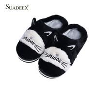 Wholesale bedroom slippers women for sale - Group buy SUADEEX Women Winter Home Slippers Non slip Warm Men Indoors Bedroom Floor Shoes Plush Slippers Faux Fur Slides Flip Flops
