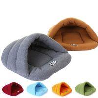 Wholesale pet house beds online - Pet Dog Cat Sleeping house Keep Warm Sleeping Bag Plush cozy Mat bed colorful types small pet nest LJJQ113