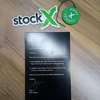 ingrosso scarpe cerchio-Codice QR StockX Carta autentica con tag X originale verificata Carta con tag Off Bianco Scarpe da donna Cerchia verde X Tag
