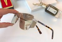 perlenrahmen großhandel-Beliebte Designer Frauen Sonnenbrillen LILE-S Metall Quadratischen Rahmen Gläser Flash Perlen Design Eyewear UV400 Schutz Top Qualität Mit Fall