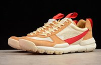 Wholesale best shoes for camping resale online - Authentic Tom Sachs Craft Mars Yard Space Camp Casual Shoes For Men Best Quality Aa2261 Natural Sport Red Maple Outdoor Sneaker
