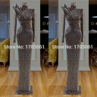 Wholesale couture prom dresses for sale - Group buy Bling New Couture Dubai Prom Dresses Slim Formal Evening Dress Custom Made Muslim Turkish Party Gowns Saudi Arabic Vestidos