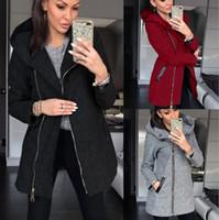 kadın yün moda ceket toptan satış-Kuzey kış Moda Kadın ılık Polar Ceketler S-5XL dış giyim Açık Casual Sıcak yün palto yüz ceketler spor Sweatshirt kapüşonlu