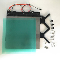heating Bed 6mm Thickness Black Color Cnc Made Reprap Prusa I3 Mk2 Clone Aluminum Single Frame Computer & Office