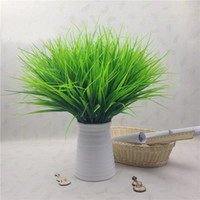 frühlingsblumen pflanzen großhandel-1 Stück Grüne Gras Künstliche Pflanzen Kunststoff Blumen Haushalt Hochzeit Frühling Sommer Wohnzimmer Wohnkultur P20