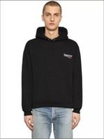satılık mens ceketler toptan satış-Ücretsiz kargo 2019 yeni Balenciaga Sıcak satış Erkek polo Hoodies ve Tişörtü sonbahar kış rahat bir başlık spor ceket ile erkek hoodies