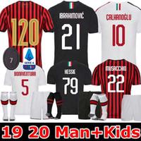 ingrosso caso xl-Ibrahimovic 19 20 CA Milano pullover di calcio edizione speciale 120 ° anniversario casa 2019 2020 Paquetá Suso venerdì Uomi bambini maglie da calcio