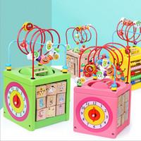 puzzles de fil achat en gros de-Garçons Filles montessori Jouets En Bois Cercles En Bois Perle Fil Maze Roller Coaster Educatif Bois Puzzles Enfant Jouet Cadeaux