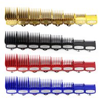 гребни для стрижки волос оптовых-CestoMen 8 Размер Руководство Comb Set Бритва Аксессуар Универсальный Машинка для стрижки волос Предельное Comb Руководство Attachment с металлом 4 цвета