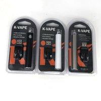 k e cig toptan satış-Özel K-VAPE Ön Isıtma VV Pil Kiti 1100 mAh Vape Kalem Değişken Gerilim Pil 510 USB Şarj Ile E-Cig Ön Isıtma Piller 5 renkler
