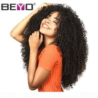 Wholesale malaysian kinky curly hair weave for sale - Group buy Afro Kinky Curly x6 Lace Front Human Hair Wigs For Black Woman Malaysian Wig With Baby Hair Pre Plucked Hairline Remy Beyo