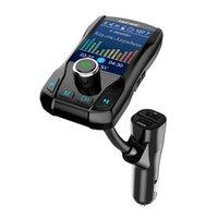 auto audio tft großhandel-1,8 Zoll großer TFT-Farbbildschirm FM-Transmitter Drahtlose Bluetooth-Freisprecheinrichtung MP3-Audio mit 5 V 2.1A Dual-USB-Ladung