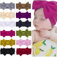 Wholesale hair multi color brand for sale - Group buy 2019 Brand New Newborn Toddler Baby Girls Head Wrap Rabbit Big Bow Knot Turban Headband Hair Accessories Baby Gifts for Y
