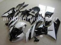 molde carenagem abs venda por atacado-OEM Qualidade New ABS Carenagens Injection Mold kits 100% apto para a Kawasaki Ninja ZX6R ZX6R 636 09-12 Carroçaria definir brilhante Branco Preto Fairing