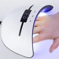 12 de fevereiro venda por atacado-36 w UV Lâmpada Prego Secador Para Todos Os Tipos de Gel 12 Levou Lâmpada para Prego Máquina USB 30 s 60 s 90 s temporizador portátil lâmpadas endurecimento