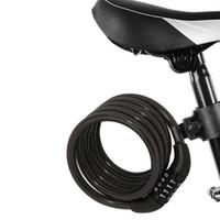 ingrosso cavi di serratura per biciclette-4 Digital Password Bicicletta Lock Combination Cable MTB Bike Lock Wire 1.2m Bicicletta Ciclismo Sicurezza Coded Lock MMA2020