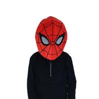 красные маски паука оптовых-Человек-Паук Красный Цвет Герой Головы Маски Мода Животных Мягкий Плюшевый Талисман Головы Маски Новый Дизайн