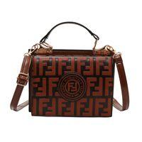Wholesale ladies box handbags resale online - 4 Colors F Letter PU Handbag Fashion Protable Shoulder Bag Messenger Bag Lady Tote Wallet Purse Travel Outdoor Bags CCA11654
