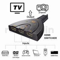 ingrosso switch dvd-3 porte 4K HDMI Splitter Switch 3in1 adattatore hdmi 1080P Switcher per HDTV DVD Xbox PS3 PS4 PC portatile
