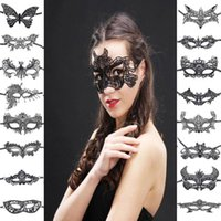 Wholesale carnival supplies for party resale online - 1pcs Party Mask Masquerade Masks Women Sexy Lace Eye Mask Christmas Halloween Costumes Carnival For Festive Party Supplies