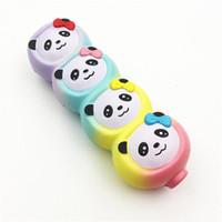 juguetes de cuerda niños al por mayor-Lindo Animal String Squishy Mano Exprimido Juguete Precioso PU Panda Squishies Descompresión Juguetes Niños Regalo Colorido Niños Juguetes Regalo