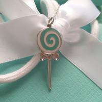 Wholesale blue quartz pendant for sale - Group buy 2019 best luxury designer jewelry women necklace fashion necklace lollipop Sterling Silver female candy blue enamel Pendant