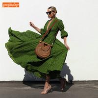 vestido de vestido sexy do exército venda por atacado-Sexy Exército Verde Profundo Decote Em V Vestidos de Noite Longo Translúcido Uma Camada de Renda A Linha de Noite Vestidos de Comprimento Mulheres Vestido Formal