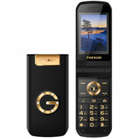 Wholesale inch big cell phones for sale - Group buy Luxury Flip inch Screen Metal Body Dual SIM Card MP3 FM Gold cellphone Big keyboard letter loudly speaker mobile cell phone