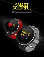 Wholesale pro bracelet for sale - Group buy New Q8 Pro Smart Bracelet Wristband Blood Pressure Heart Rate Monitor Sports Smart Watch Waterproof Motion Wristwatch Band for IOS Android