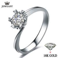 ingrosso buoni anelli di diamanti-Natural Diamond Ring 18k Gold Wedding Snowflake Romantic Propose Engagement Women Lover Anniversary Party New Good Personalizza S625
