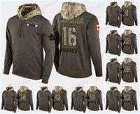 ingrosso felpa in foglia di acero di toronto-Personalizzato Mens Toronto Maple Leafs Camo militare Hood Flag Pullover Maglie 11 Zach Hyman 33 Frederik Gauthier Hockey Hoodies Felpe