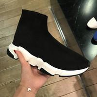 cremefarbene schuhe groihandel-2019 New Air Wool Strick Geschwindigkeit Trainer Turnschuhe klassische Marken-Designer der Frauen Männer Top Fashion Flache Socken Schuhe Stiefel