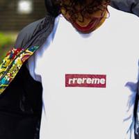 ingrosso magliette rosse colletto-19SS 25 ° Anniversario Swarovski-Box L0go Tee Street Commemorative Mens Designer T Shirt Womens colletto tondo Nero Bianco Rosso Pantaloncini HFSSTX234