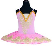 ingrosso abito di balletto latino-Baby Pink tutu di balletto del vestito per ragazze rosso Latina White Swan Lake Costumi vestito da balletto per i bambini Pancake cristallo Dancewear