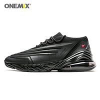 ingrosso scarpe energetiche-ONEMIX 2019 scarpe da corsa da uomo scarpe da uomo in pelle cuscino ammortizzatore soft energy intersuola corsa all'aperto