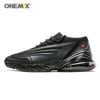 zapatillas energeticas al por mayor-ONEMIX 2019 zapatos para correr para hombre zapatos para hombre cojín de cuero cojín de suave energía entresuela para correr al aire libre