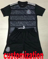 Wholesale thai quality black soccer jersey for sale - Group buy Thai quality customization soccer jersey Mexico black shirt CHICHARITO G DOS SANTOS men kit soccer football shirts