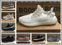 zebra şerit ayakkabıları toptan satış-Adidas yeezy supreme 350 Kanye West 350 V2 Statik Koşu Ayakkabıları Zebra Beluga 2.0 Tereyağı Susam Bred Siyah Bakır Turuncu Çizgili Atletizm Sneakers ABD 5.5-11